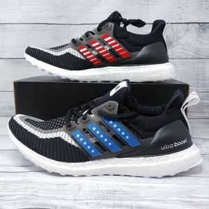 Adidas Ultra Boost CTY Mens Shoes Black Red Blue